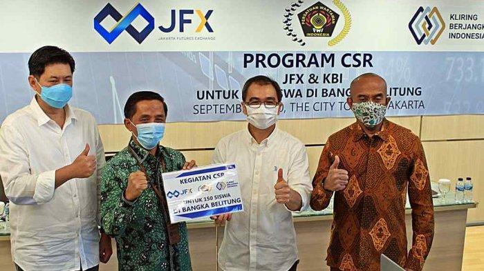 JFX-KBI Gandeng PWI Bantu 150 Siswa di Babel, 40 Pelajar Belitung Dapat Paket Data