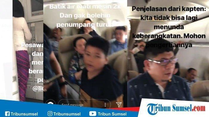 Video Detik-detik Kepanikan Penumpang Pesawat Batik Air, Mau Turun Karena Tahu Mesin Mati