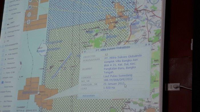 Muncul Dua Peta IUP Aktif di Laut Belitung Dalam Raperda Rencana Zonasi