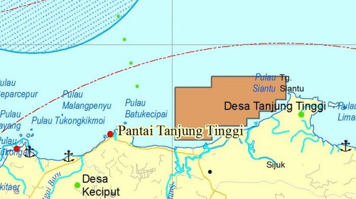 Kawasan Wisata Belitung Masuk Peta Zonasi Pertambangan Laut, Bupati Bilang Begini - peta_20171108_141724.jpg