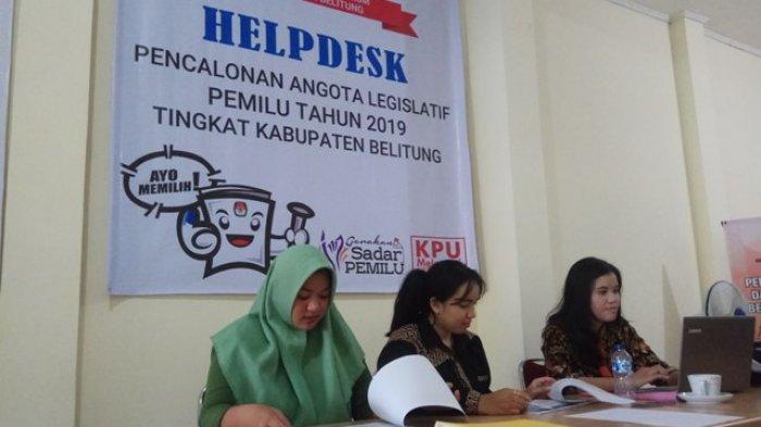 Pendaftaran Sisakan Waktu 9 Hari, KPU Belitung Belum Terima Berkas Pencalonan Legislatif