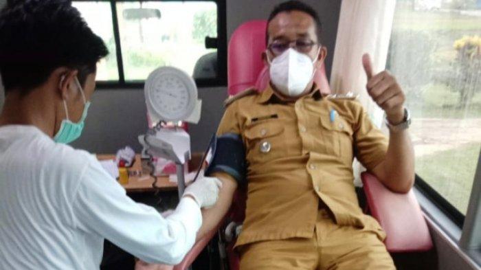 Desa Buding Gelar Donor Darah Dapat 29 Kantong, Mardini Ajak Desa Lain Buat Acara Serupa
