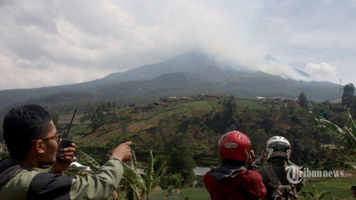 Hutan Gunung Lawu Masih Terbakar