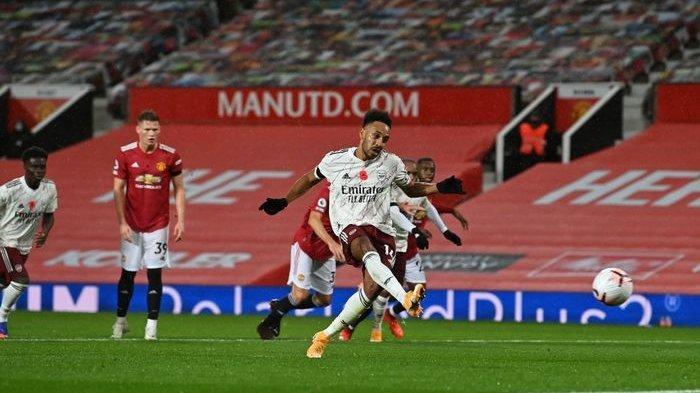 Hasil Liga Inggris Man United Vs Arsenal, Penalti Aubameyang Nodai Laga Ke-100 Ole Gunnar Solskjaer