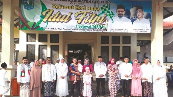 Pemerintah Kabupaten Belitung Jalin Silaturahmi Usai Salat Id