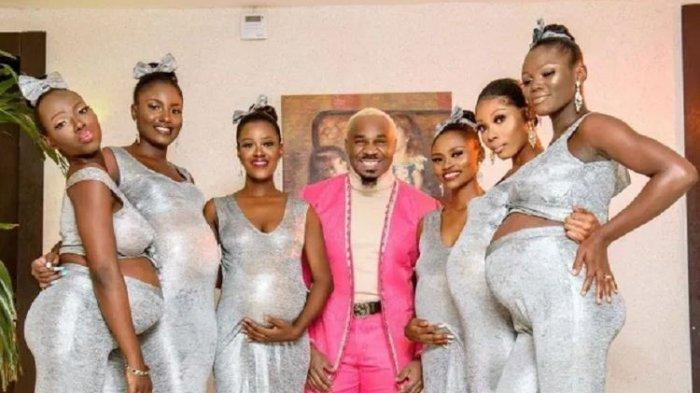 HEBOH Kelakuan Playboy Asal Nigeria, Bawa 6 Kekasih Hamil ke Pesta Nikah, Happy Tapi Dikecam Warga