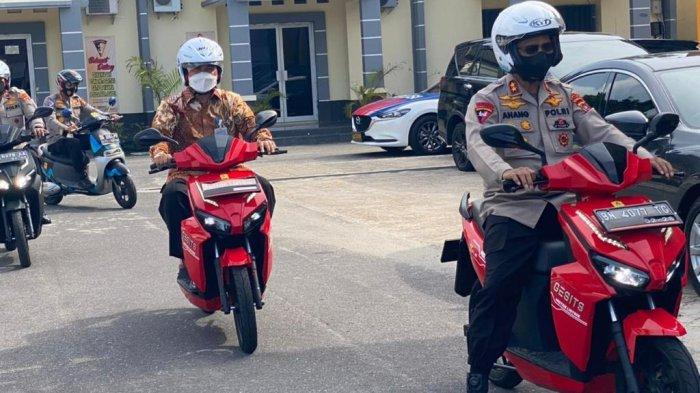 Kapolda Babel Imbau Anggota Pakai Motor Listrik, Anang: Kelebihannya Sunyi, Senyap dan Selamat