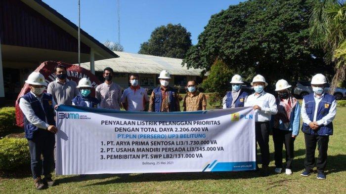 Dukung Iklim Investasi, PLN Pasang Listrik 2 Juta VA di Belitung