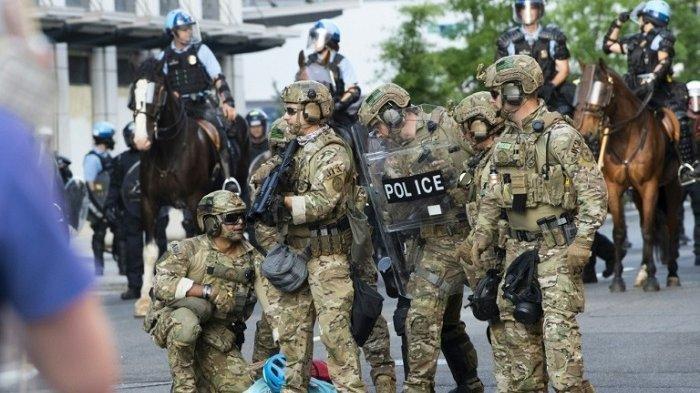Donald Trump Mobilisasi Tentara Atasi Demonstran, Amerika Serikat Terancam Konflik Berdarah