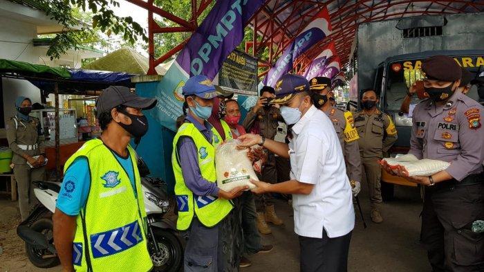 Polres dan Forkopimda Belitung Timur Razia Protokol Kesehatan di Pasar Manggar
