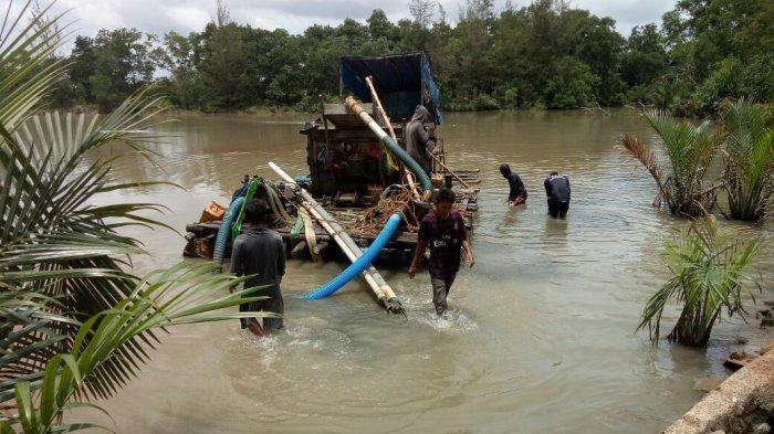 Ada Dua Orang Pelaku Penambang Ilegal Kini Diproses Hukum Polres Belitung Timur
