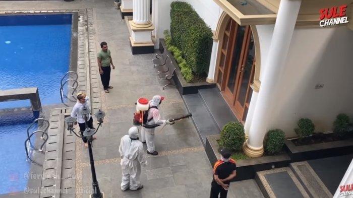 Rumah Mewah Sule Ikut Disemprot Disinfektan oleh Dinkes, Demi Keamanan Segini Biaya yang Dikeluarkan