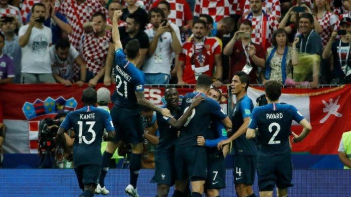Prancis Juara Dunia 2018, Benamkan Kroasia 4-2