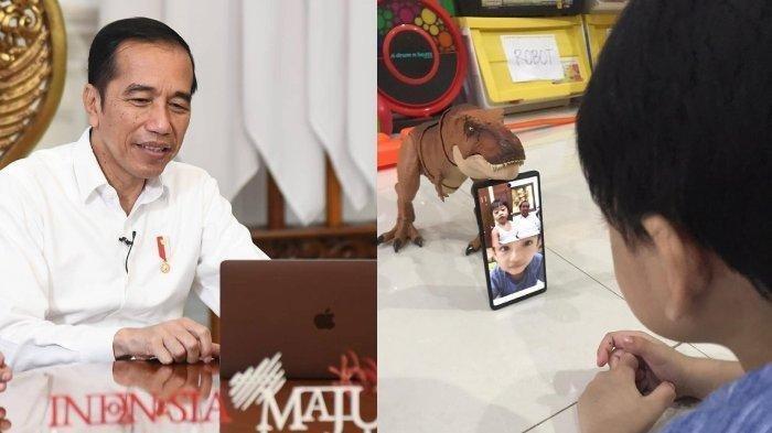 Jokowi Kangen Cucu, Video Call dengan Jan Ethes dan Sedah Mirah, Kaesang Malah Curhat: Pencitraan