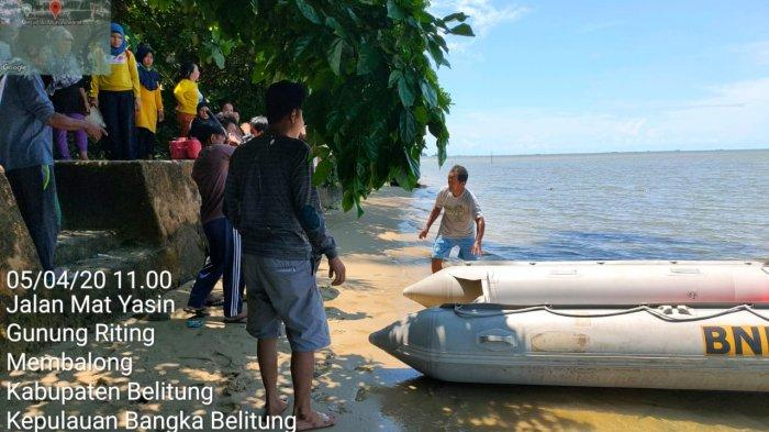 Nelayan Pencari Kepiting Diduga Hilang di Perairan Laut Desa Mentigi Belitung, Ini Ciri-cirinya
