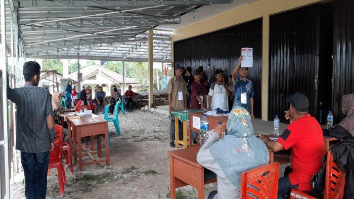 Partisipasi Pemilih PSU di TPS 04 Lenggang Beltim Menurun