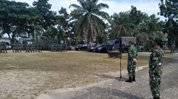 Dandim 0414/Belitung Pimpin Apel Siaga Pengamanan Jelang Pilkada Belitung Timur 2020