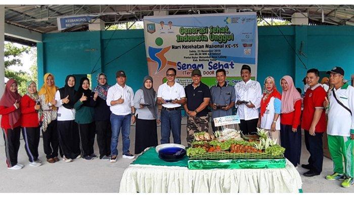 Puncak HKN ke-55 di Belitung Timur Gelar Senam Bedincak di Pantai Nyiur Melambai
