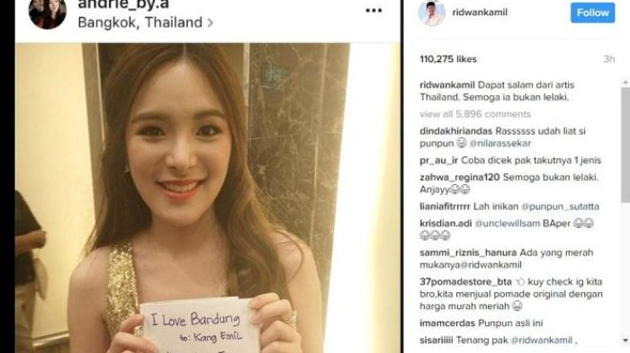 Gara-gara Posting Ini di Instagram, Ridwan Kamil Dikecam Netizen