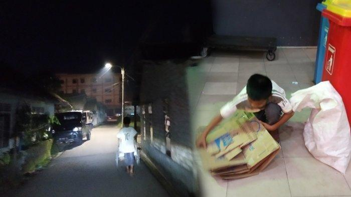 Bercita-cita Jadi Bos Rongsokan, Bocah Pemulung Asal Pangkalpinang Sempat Tolak Tawaran Sekolah