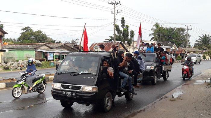 Pedemo Berjalan Kaki dari Toboali ke Pangkalpinang Telah Tiba di Koba
