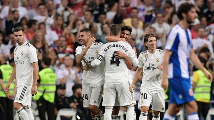 Kalahkan Espanyol, Real Madrid Lengserkan Barcelona dari Puncak Klasemen