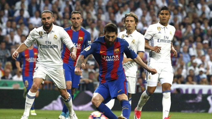 VIDEO Drama El Clasico, Ronaldo Kesal, Messi Berdarah Hingga Kartu Merah Sergio Ramos