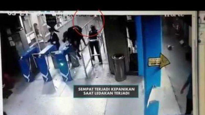 Rekaman Detik-detik Ledakan Bom di Terminal Kampung Melayu
