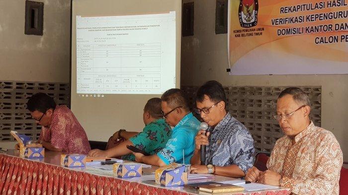 KPU Beltim Tetapkan 15 Parpol Calon Peserta Pemilu 2019