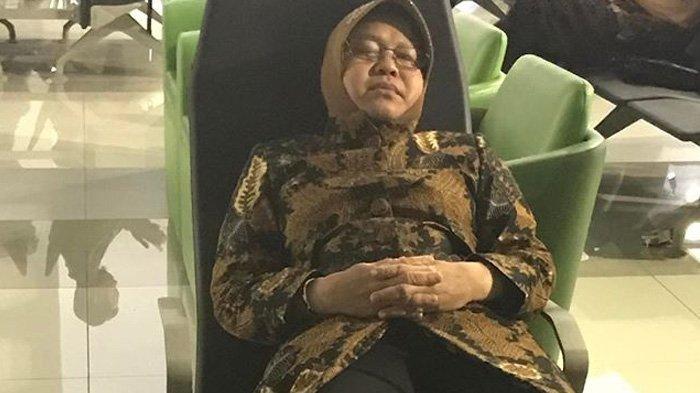 Foto Risma Tidur di Ruang Tunggu Penumpang Bandara Beredar, Netizen Bersimpati