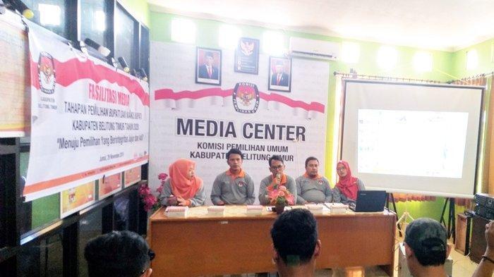 KPU Beltim Bentuk Media Center Sukseskan Penyelenggaraan Pilkada Beltim 2020