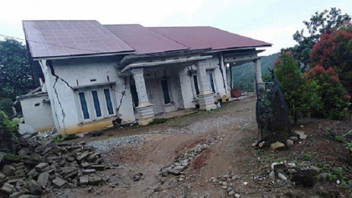 10 Rumah Warga di Solok Selatan Rusak Pasca Gempa Mengguncang 3 Kali