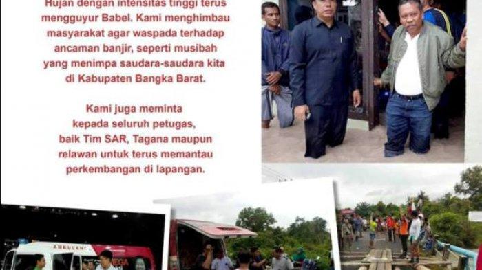 Rustam Minta Tim SAR, Tagana dan Relawan Pantau dan Bantu Korban Banjir