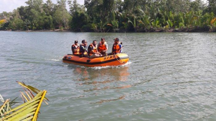 Tim Sar Gabungan Sisiri Sungai Manggar Mencari Saad Yang Hilang Diterkam Buaya
