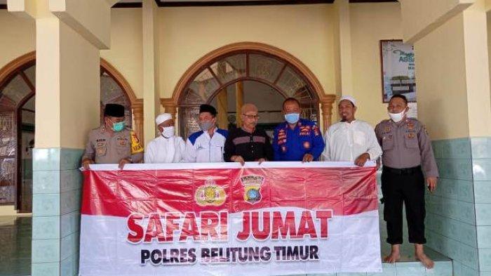 Kasat Binmas Polres Beltim Ingatkan Jamaah Taat Protokol Covid-19 dan Jaga Kondusivitas Pilkada