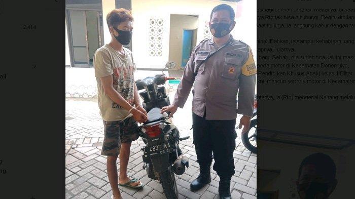 Kualat Kali Ya, Pencuri Motor Luntang-lantung Kelaparan Setelah Maling Motor Guru Agama