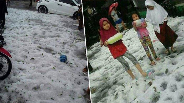 Ini Kumpulan Video Bandung Diguyur Hujan Salju, Ada Rekaman Mengerikan Saat Badai