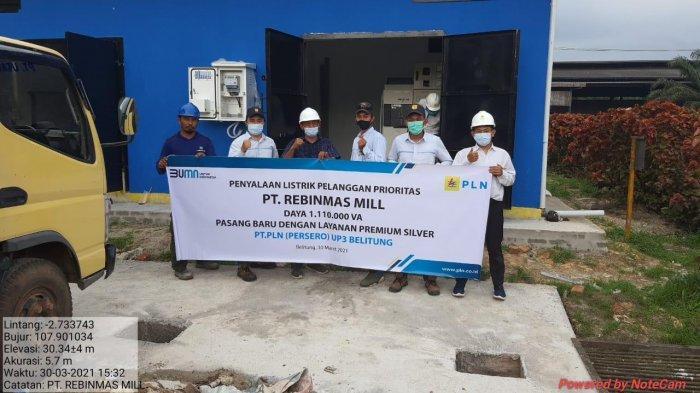 PLN Sambung Listrik Satu Juta VA untuk Pabrik di Belitung