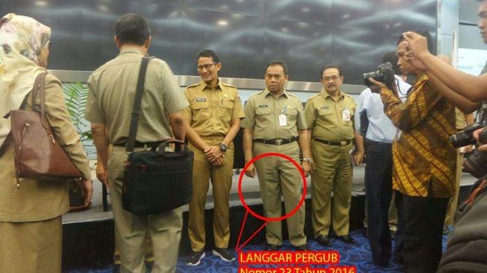 Baru Hari Pertama Masuk Kerja, Wakil Gubernur Sandiaga Uno Sudah Langgar Aturan, Ini Alasannya
