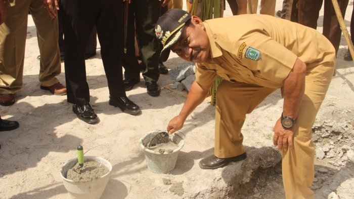 Rukan Perdana di Desa Air Merbau Bentuk Sinergitas TNI-Polri dan Pemdes