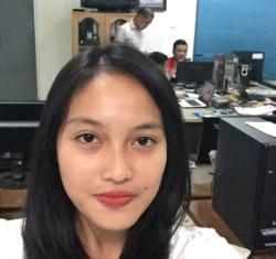 Mahasiswi Cantik dari Binus Ini Pilih Pos Belitung Untuk Magang