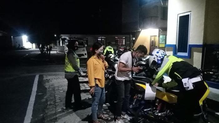 Sat Lantas Polres Belitung Tertibkan Pengguna Knalpot Racing