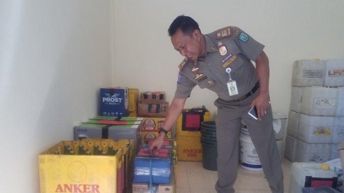 Tiga Kardus Minol Diamankan Satpol PP Belitung dari Toko Kelontong
