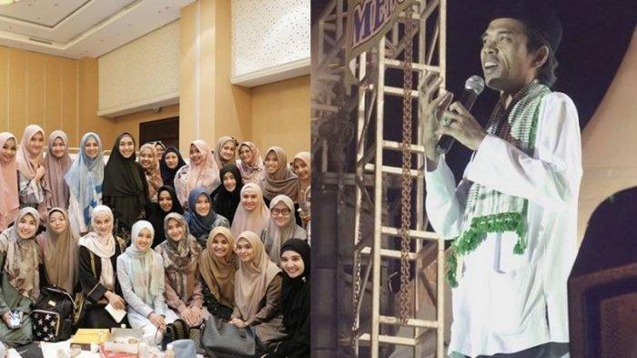 Ustaz Abdul Somad 'Dikepung' Artis, Mulan Jameela Malah Rela Duduk di atas Kabel