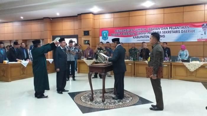 H H MZ Hendracaya SE MSi Resmi Menjabat Sekda Kabupaten Belitung