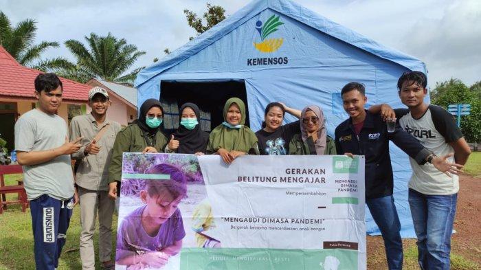 Pasca Banjir, Relawan Belitung Mengajar Dirikan Posko Hangat di Kelapa Kampit