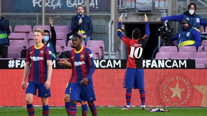 Buntut Selebrasi untuk Diego Maradona, Messi Didenda Rp 10 Juta, Barcelona Harus Bayar Rp 3 Juta
