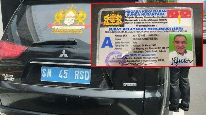 Ditilang Polisi, Pria Bernama Rusdi Karepesina Mengaku 'Jenderal Muda' Kekaisaran Sunda Nusantara
