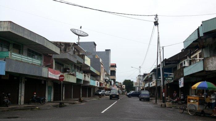 Tahun Baru Imlek, Toko-toko di Kota Tanjungpandan Banyak yang Tutup