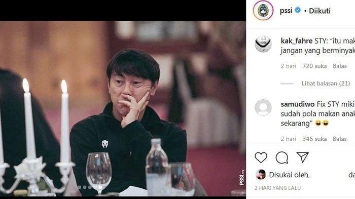 Netizen +62 Olok-olok Pelatih Timnas U-19 Shin Tae-yong, Tampak Cemberut di Depan Makanan